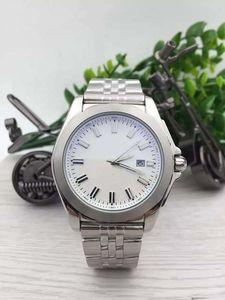 2016 Nova Chegada Brein Auto Assista Men Silver Case Branco Grande Mostrador Inoxidável Chronometer Banda 1884 Assista Montre Homme