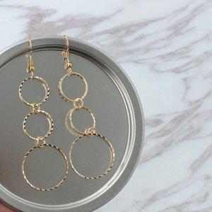 Geometrik serisi boyutu daire düzensiz püskül kolye küpe moda toptan ücretsiz kargo