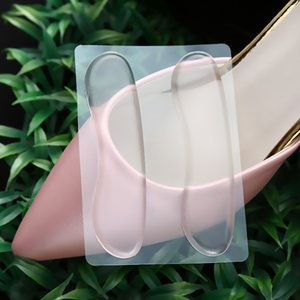 10lot Dopo tacco bastone autoadesiva solette per scarpe tacco pasta di silicone Gel Anti di slittamento del rilievo del sottopiede di cura di piede dell'ammortizzatore del tallone Protector Relief