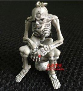 11.5*5.6*2.5 см милый творческий качество резиновый туалет скелет висит подвески туалет череп брелки брелки мобильный телефон цепи Оптовая