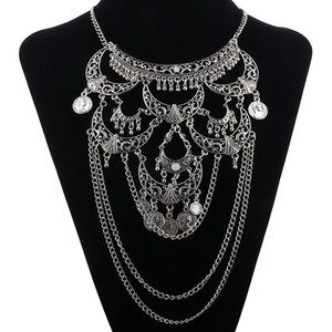 Оптово-Collares 2016 Мода Boho Maxi Choker Collier ожерелье Gypsy Этнический Vintage Colar себе ожерелье женщин изящных ювелирных изделий