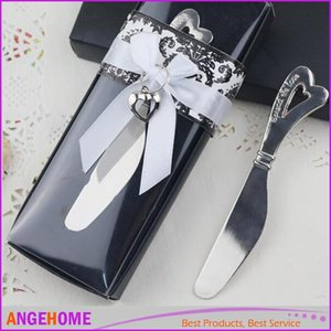 Hochzeit Gefälligkeiten und Geschenke, Metall Brot Kuchen Butter Messer Gabel Chrom Leaf Spreader Valentinstag Geschenk