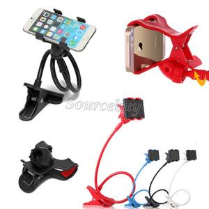 Universal Dos clips Lazy Soporte de 360 grados Rotating 85cm Soporte de teléfono inteligente para iPhone Samsung Note 3-7 pulgadas Cama Soporte de escritorio DHL gratis