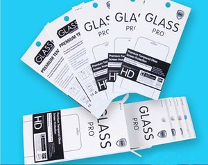 Universal 180 * 88mm Papier Paket Box für iphone Samsung Sony HTC gehärtetem Glas Bildschirm Protetor 9H Anti-Fingerabdruck-Film