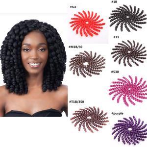 Trenzado sintético Hair Bulk 2X Jumpy Wand Curl Jamaican Bounce Twist Trenzas sintéticas de ganchillo Extensiones de cabello