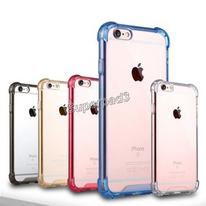 For iPhone 7 i7 Plus Samsung S7 Edge Note 7 Soft TPU Hard Acrylic Plastic Anti-shock Dirt-resistant Protective Cell Phone Case Free Shipping