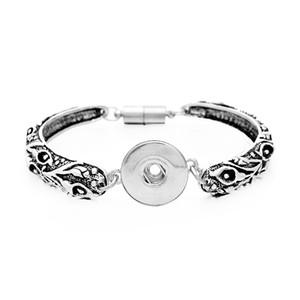 7 أنماط اختيار منحوتة زهرة المفاجئة أساور و أساور صالح الطقات أزرار 18 ملليمتر مع تمديد سلسلة giger snap jewelry
