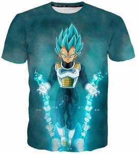 Neue Mode Frauen / männer 3D Print Dragon Ball Z Beiläufige Kurzen Ärmeln T-shirt D05