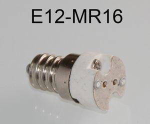 E12 para MR16 LED Lâmpada Base Conversor Suporte de Lâmpada E12 para G4, G5.3 Socket LED