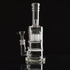 tubi di acqua bong tubi dell'acqua vetro vetro vetro 2017 alto tecnologia 14 rami 7 spessi esclusive piattaforme petrolifere doppia funzione nuovo bong