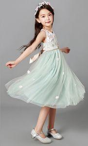 Летом дети ребенок платье принцессы, большая юбка большая девочка юбка пляж платье w1705