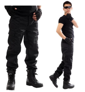 2016 Outdoors men Overalls black bermudas outdoor training Military army tactical pants commando trousers cargo pants Free Ship
