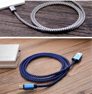 Braided 1m Type C cable USB Sync Data Cable Charging Cords Charger Line for Android Samsung Galaxy S4 S6 S7
