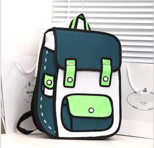 Atacado-Moda 2D 3D Saco de Lona Comic Gismo Cartoons Bag Câmera Mochila Mulheres Homens Sacos Unisex Ombro Geral
