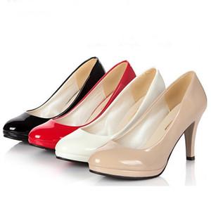 Ocupação escritório trabalho sapatos pretos colher boca rasa cúspide tamanho sapatos fabricantes de salto alto