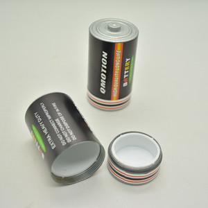 Geheime Stash Diversion Pillendose Fall Batterie geformt mittlerer Größe Kraut Tabak Vorratsglas versteckten Container 25x49mm Zink-Legierung