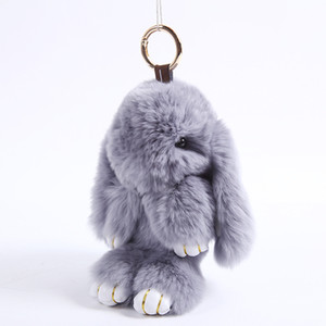 2016 Big Dead Rabbits Plush Toy Korean Lazy Play Peluche Bunny Doll Keychain Toys Kawaii Dolls Pets Pendant key chain Gifts For Girl