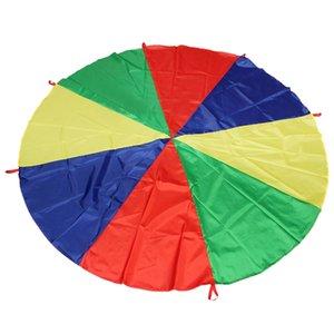2 M / 6.5FT Childrens Jogar Rainbow Parachute Outdoor Jogo Exercício Esporte ao ar livre jogo de recreação