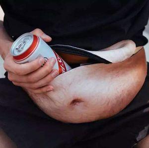 Mode Papa Sac Papa bod Sacs de Taille pour iPhone Samsung Cas Universel Chair Flesh Couleur Bière Fat Ventre Fanny Pack Drôles Sacs Dadbag