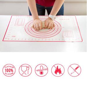 4pcs / lot plastique outils de gâteau fondant décor de haute qualité spatules pâtisserie ensemble avec 60 * 40 non bâton silicone cuisson tapis