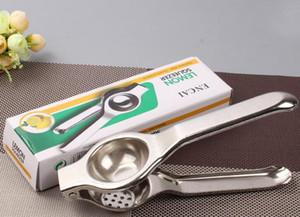 Nouveau presse-citron en acier inoxydable citron presse-citron manuel presse-citron robuste anti-corrosif lime manuelle outils de jus de citron vert avec emballage de détail