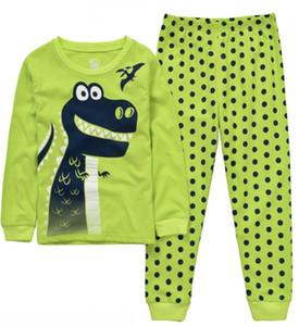 dinosauro Ragazzi Pijama Pigiama in cotone per bambini Cartone animato Indumenti da notte Abbigliamento Ragazze Pigiama Siut Long T-shirt + Pantaloni Primavera Pigiama