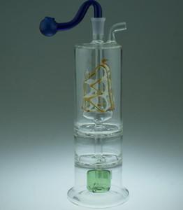 Narghilè in vetro perfettamente filtrato ---- bong in vetro per impianto di perforazione di petrolio pipa ad acqua pyrex denso mini tubo di acqua liquida inebriante di sci, consegna casuale a colori