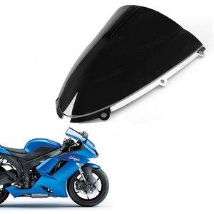 Doppelter Windschutzscheiben Windschutzscheibenschutz für Kawasaki ZX6R 2005-2008 ZX10R 2006-2007