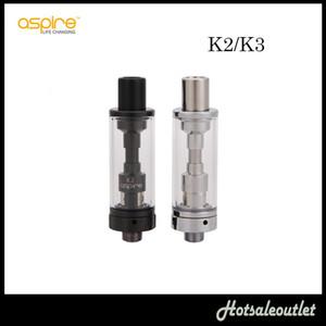 Aspire K2 Tankı K3 Tank Değiştirme Tankı için Aspire K2 Hızlı Başlangıç Kiti Aspire Atomizer ile 1.8 ml E-suyu Kapasitesi 100% Orijinal