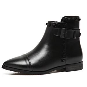 وأشار الجوارب النسائية شقة برشام قاطرة أحذية النساء الجناح الأحذية قصيرة المسامير المسطحة وأشار الأحذية دراجة نارية. XZ-088