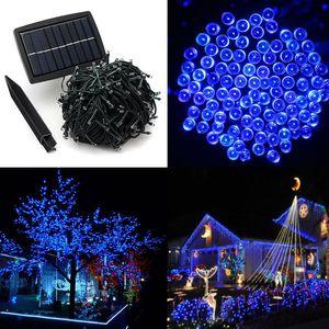 50M 500 LED Fée Alimenté Solaire Bande de Lumière pour le Festival de Noël Lumières Faisceaux rechargeables pour la Décoration de Jardin