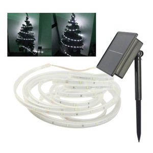 LED Solar-Streifen 100Leds Kupfer-Streifen-Licht 16.4ft / 5M Flexible SMD2835 LED-Band-Stimmung Seil Solarschnur-Licht