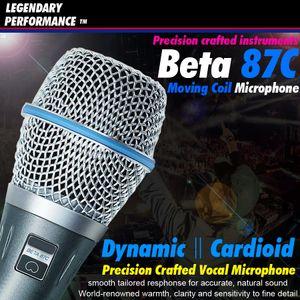 Ücretsiz Kargo Profesyonel Beta87C XLR Kablolu Sahne El Vokal Karaoke Mikrofon İçin Beta 87C 87 C BETA87A BETA 87A BETA 87 Mic Mike