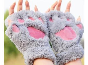 مخلب مخلب أفخم القفازات قصيرة أصابع إصبع قفازات الدب القط أفخم مخلب مخلب نصف الاصبع قفاز لينة نصف غطاء قفازات موك 30 زوجا
