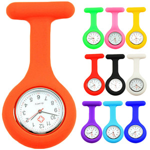 도매 새로운 귀여운 실리콘 간호사 시계 브로치 시계 줄 포켓 튜닉 석영 운동 시계 N76Y