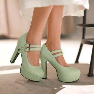Насосы обувь женщина PU новый 32 33 46 45 44 43 высокий каблук 12 см платформа 4 см тонкие каблуки EUR размер 31-47