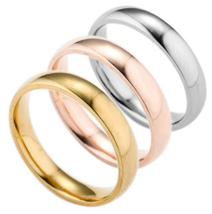 2021 Heiße hochwertige Schmuck Neue Mens Womens Damen Edelstahl Ringe Band Mode Ringe