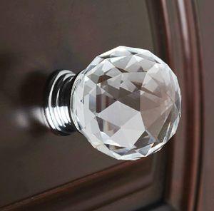 10pcs moderne Art und Weise Kristallglas K9 Diamant Möbelgriffe Hardware Schubladenschrank Küchenschränke Schrank-Tür Pull Großhandel Drehregler