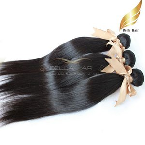 "8""-30"" Peruvian Human Hair bundles Straight Human Hair Weft Extensions Natural Color 1PC Retail Bella Hair"