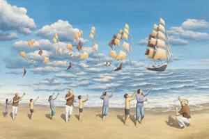 , Rob Gonsalves, Açık Denizlerde, Saf El boyaması Sanat yağlıboya Duvar dekoru