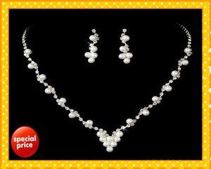 Stok 2021 İnanılmaz tasarımcı peals kristaller gelin takı taçlar tiaras başlıklar sıcak düğün gelin takı seti setleri düğün mücevher