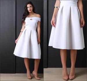 Белый цвет сексуальные атласные девушки юбки длиной до колен новые юбки для девочек на заказ складки Империя трапеция юбки реального изображения