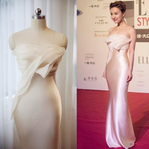 White Ivory Mermaid Evening Dresses 2019 Organza Satin Backless Ruffle Formal Evening Gowns Celebrity Red Carpet Prom Dresses