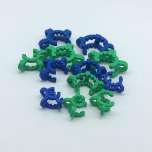 Expédition libre DHL !!! Vente en gros de 10mm 14mm 18mm / 19mm en plastique KECK clips clips de laboratoire Clip Bong pour l'adaptateur de verre NC Kit Fumer