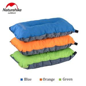 Atacado-Naturehike Auto automático inflável travesseiros de ar comprimido não escorregadio portátil ao ar livre Camping caminhadas Travelmate