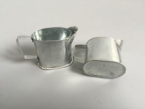Pas cher D4 * H4CM Seaux Mini Silvery Galvanisé arrosoir pour les petits pots usine Succulentes arrosoirs décoratifs en fer blanc