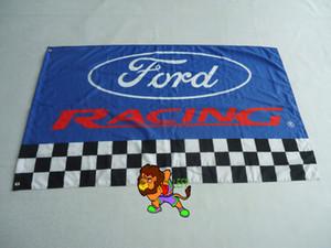 Форд гоночный флаг для автомобильного шоу, баннер Форд,размер 3х5 м,100% полиэстер пользовательских флаг латунные втулки