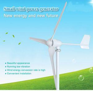 Générateur à turbine éolienne Livraison gratuite triphasé ac 24v 48v 3 pales démarrent avec une vitesse du vent de 2.5m / s 1000w