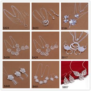 Brand New 6 Set di stile diffrent Style and Color Sterling Silver Silver Set di gioielli DFMS33, Abbigliamento 925 Set di gioielli con orecchini in argento 925