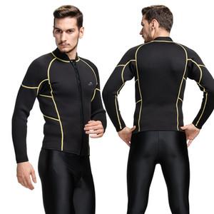 3 milímetros wetsuit inverno quente para nadar mergulho scuba swimwear homens mergulho wetsuit única top surf wear rashguard térmica